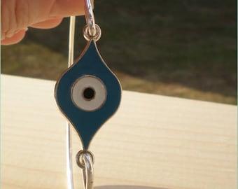 Evil Eye Bangle, Charm Bangle, Charm Bracelet, Jewelry Findings