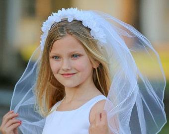 Kristie First Communion Veil - Veil, First Communion, First Communion Headpiece, Communion Headband, Special Occasion Headband, Flower Girl