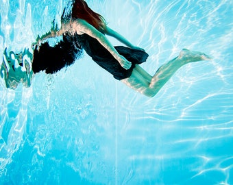 UNDERWATER 1 // Colour PHOTO Print on glossy photo paper or  Dibond 3 mm // Underwater photography
