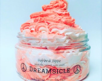 Dreamsicle Whipped Soap/Orange Creamsicle Soap/Bath Frosting/Foaming Bath Butter