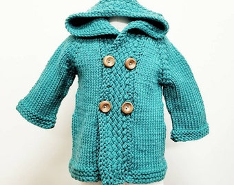 Handmade Custom Knitted baby sweater cardigan shower gift