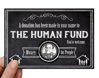 "Seinfeld ""The Human Fund"" Gift Notification Greeting Card Pack of 5"