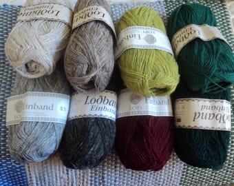 8 Colors 100% Icelandic Wool Lopi Einband 50g  (1.7 0z.) 273 yards  Made in Iceland