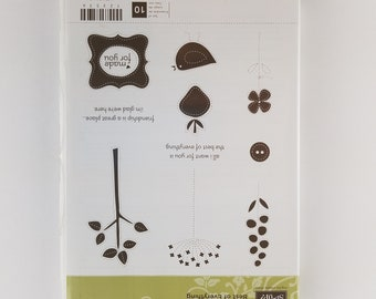 Stampin' Up! Rubber Stamp Set BEST OF EVERYTHING Set of 10 Stamps Leaves Bird