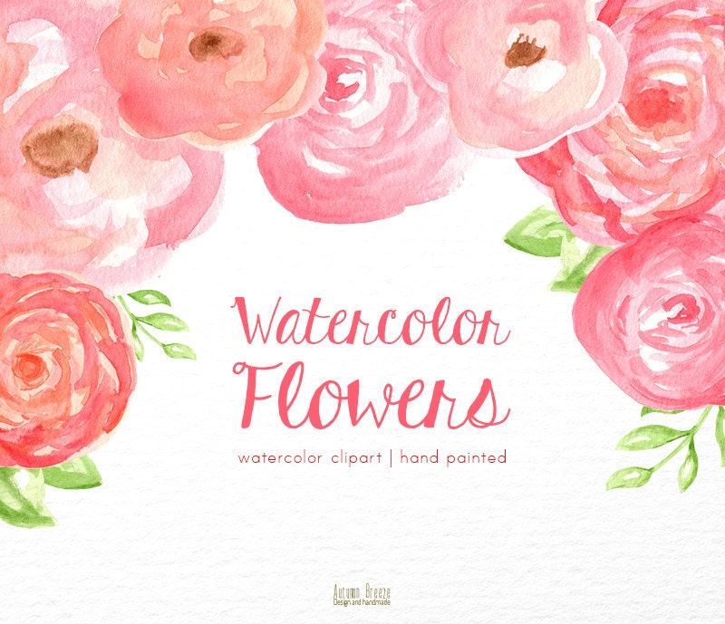 Floral watercolor clipart flower clipart pink clip art zoom mightylinksfo