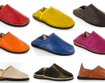 BERBERES leather slippers