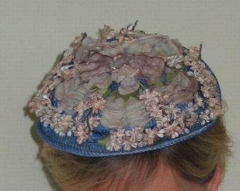 Vintage 1950s Floral/ Flower Hat