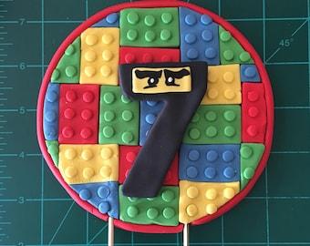 Lego Ninjago number caketopper
