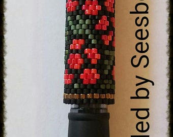 Holly Berry Beaded Pen Cover with G2 Black Pen