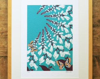 Foxglove & fritillaries limited edition A3 print