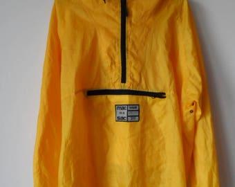 mac in a sac, yellow windbreaker, jacket, vintage, 90s, waterproof, windproof, oversized