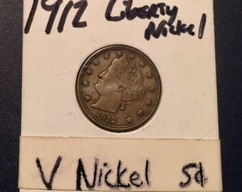 1912 Liberty V Nickel - nice condition