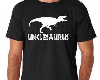 Uncle Gift Personalized mens mens Gift gifts for Uncle uncle shirt best uncle uncle tshirt Unclesaurus Dinosaur T-Rex Unisex