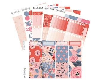Planner Stickers Vintage Floral Weekly Kit