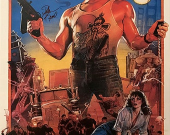 Big trouble in little china movie poster signed by cast