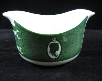 Royal China USA Colonial Homestead Green Gravy Boat Vintage 1950's