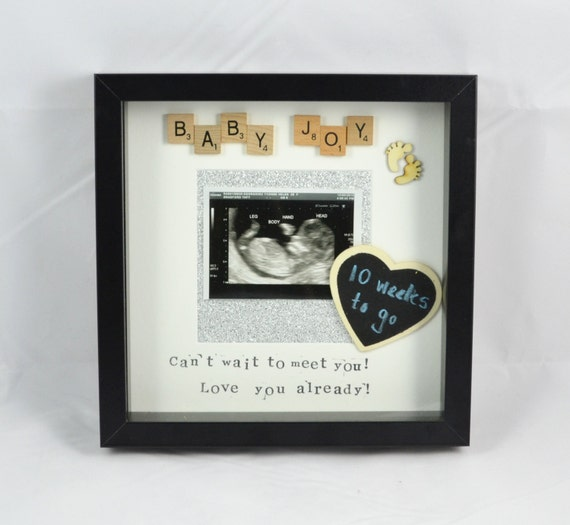 Baby scan scrabble frame- baby news- baby joy - count down- baby ...