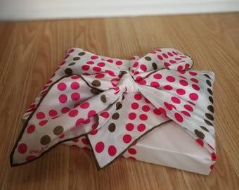 Vintage (medium) scarf /Emballage reusable/Furoshiki gift