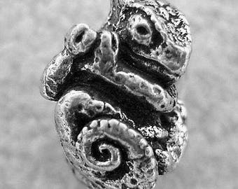 Green Girl Studios Pewter Chameleon Bead
