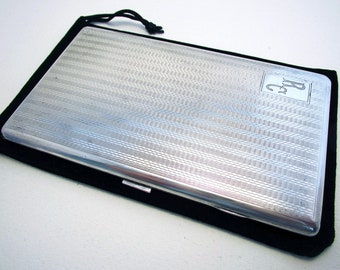 Large & Heavy 215g! Solid Sterling Silver Cigarette Case/Box. Art Deco style. Early 20th-century
