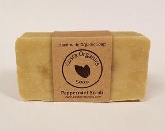 Organic Peppermint Scrub Soap - Scented (Handmade)
