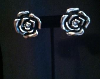 Large Rose post earring