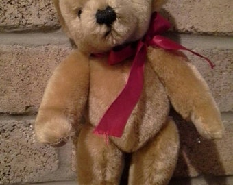 Vintage 1980's Mohair Teddy Bear by Merry Thought Made in England