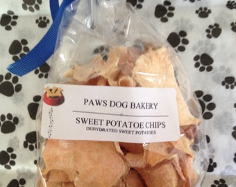 Sweet Potato Chips- Dehydrated- 100% All Natural - No Preservatives