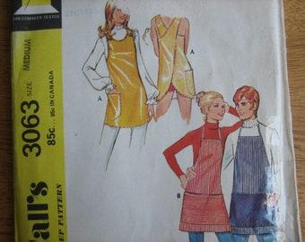 McCall's Pattern 3063 Misses' Set of Aprons, Plus Bonus Man's Apron        1971       Uncut