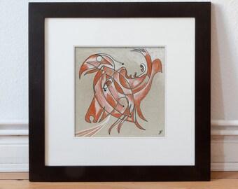 Original drawing 15/15 cm (5.9/5.9 inch)