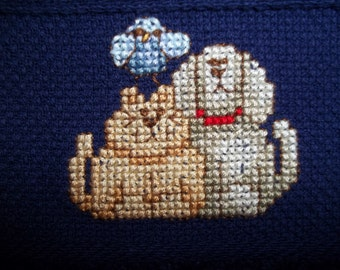 counted cross stitch guest towel