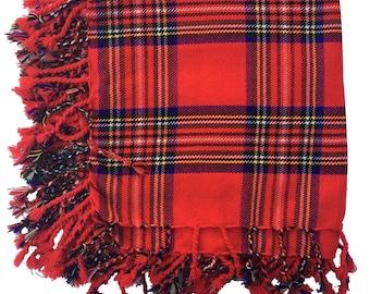 "Highland Wears Mens Kilt Fly Plaid Royal Stewart Tartan 48"" x 48""/Scottish Fly Plaid"