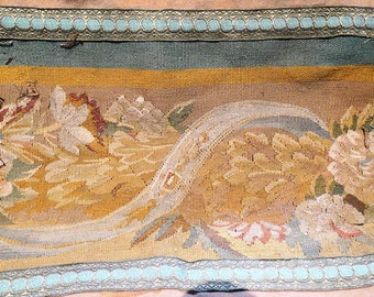 Aubusson Tapestry Panels 18th Century with 19th Century Trim