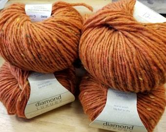 diamond Luxury Pure Donegal Tweed