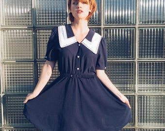 Little Bow Peep Vintage Navy Dress