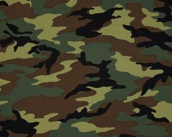 Camo Army Camo Green Fabric