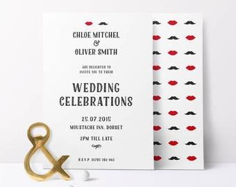 His & Hers Wedding Invitation