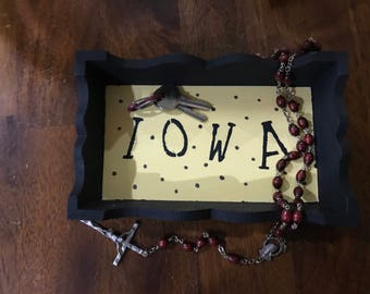 Personalized Mini-Tray//School//Mascot//Gift under 30//Gifts for Collee/Students//Jewelry tray//key tray//desk accessory//entry//hallway