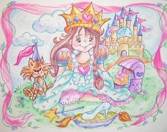 Princess Theme- Art Print - 8.5 x 11