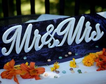 MR & MRS Wedding Table Centerpiece Topper 3D Script Style Custom Art reception anniversary gift idea home decor newlywed decoration gifts