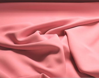 Fabric polyester black out pink soft flowing