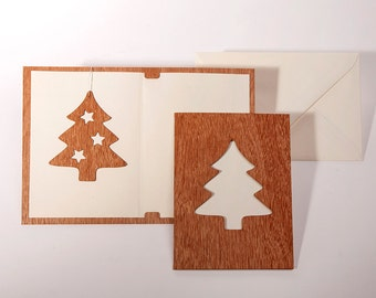 Greeting cards with paper insert and envelope - 3 fir cards