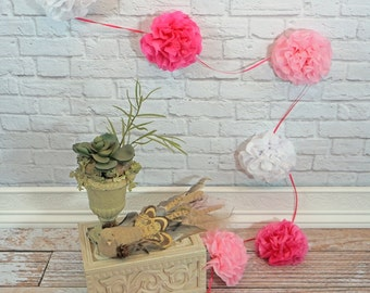 Paper Flower Garland 12 Feet Choose Your Own Colors