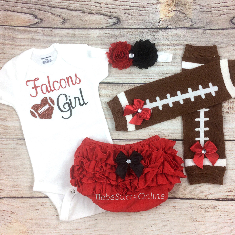 Falcons Girl Baby Football Outfit Atlanta Falcons Baby Girl