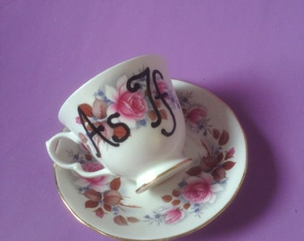 "Vintage Queen Anne ""As If"" Tea Cup"