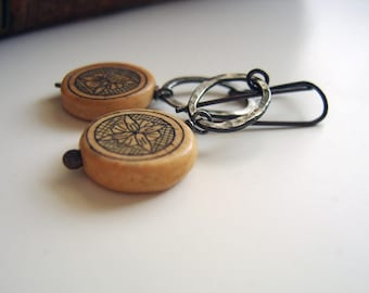 S A L E : Etched Earrings. One of a Kind Sterling Silver