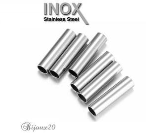 10 tubes column 10 x 2, 5mm stainless steel bead Lot M05101