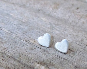 Silver Studs Earrings, Heart Silver Earrings, Silver Stud Earring, Silver Heart Studs, Stud Earings, Heart Studs, Silver Studs