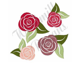 Roses - Machine Embroidery Design