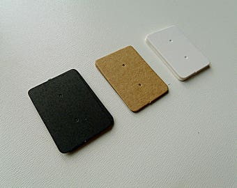 10 Supports 2.5cmx3.5cm hardback earrings display